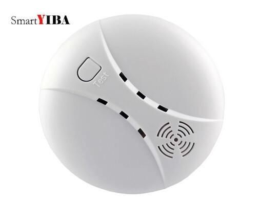 SmartYIBA Battery Powered 433MHz EV1527 Wireless Smoke Sensor Detector Alarm Works With Sonoff RF Bridge For Alarm System
