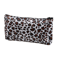 10pcs ASDS Women Zippered Leopard Print Cosmetic Holder Bag