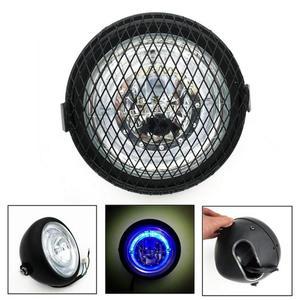 Image 1 - Motorcycle Headlight Cafe Racer Head Light Decorative Lights Modified Motorbiker Vintage Head Light With Bracket