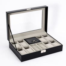 Luxury Storage Box Protable PU Leather Earrings Ring Multi-function Jewelry Large Space Necklace Bracelet Watch Case Moscow