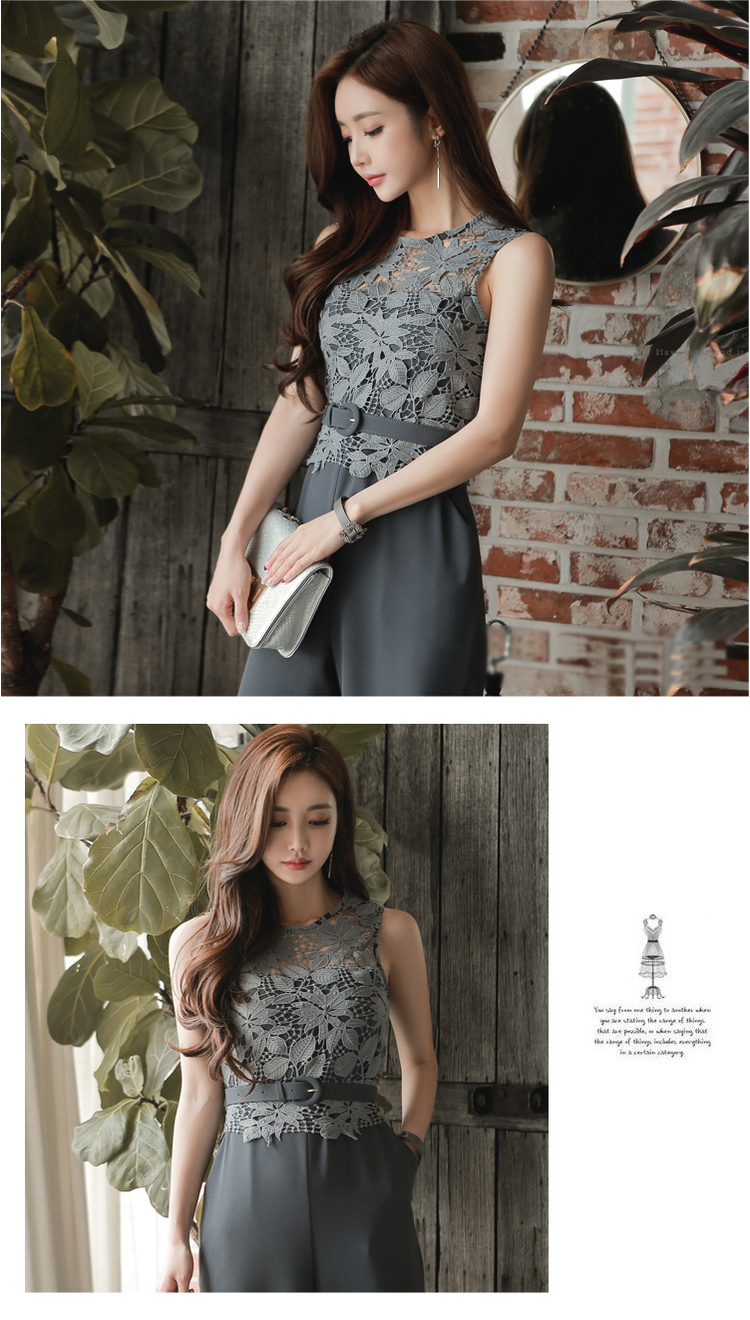 27f2e882803c Detail Feedback Questions about Summer jumpsuit sexy sleeveless belt ...