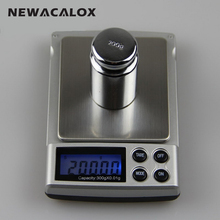 NEWACALOX 500g x 0.01g Digital Scales for Bijoux Sterling Jewelry Scale 0.01 Pocket Stainless Steel Pan Electronic Scales