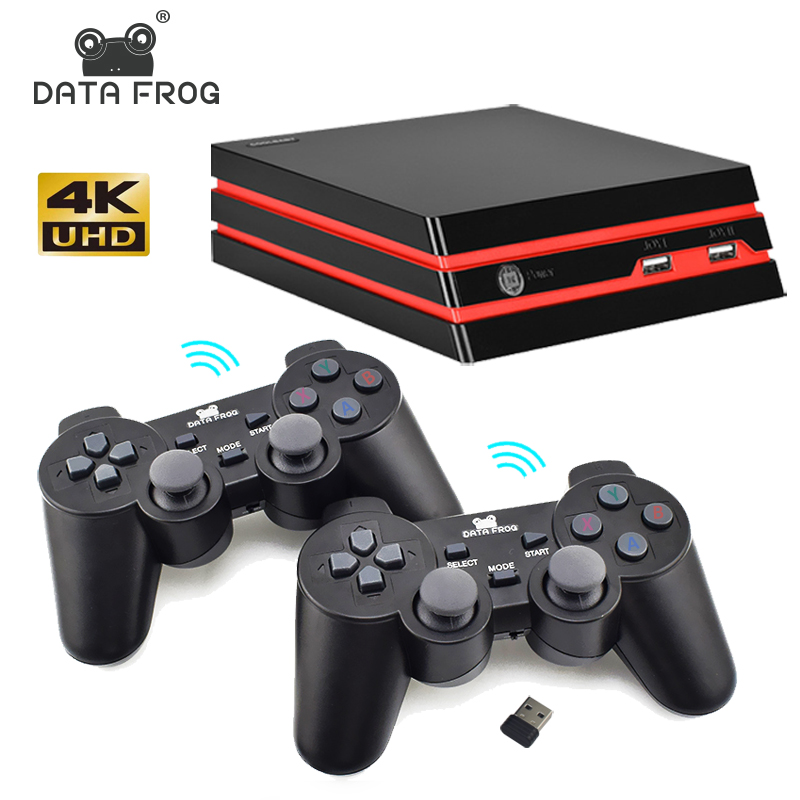 Data Frog HDMI Video <font><b>Game</b></font> Console With 2.4G Wireless Controller 600 Classic <font><b>Games</b></font> For GBA/SNES Family TV Retro <font><b>Game</b></font> Console