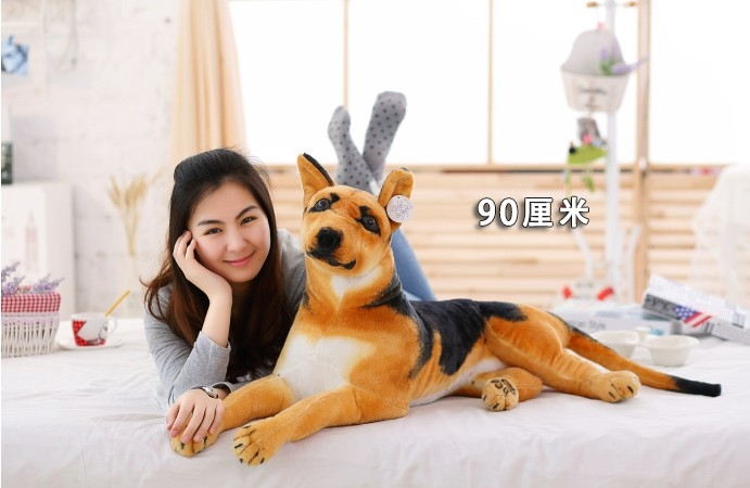 huge 85cm prone shepherd dog plush toy simulation wolfhound throw pillow christmas gift b0417 stripes sweater design prone husky largest 165cm gray husky dog plush toy sleeping pillow surprised christmas gift h907