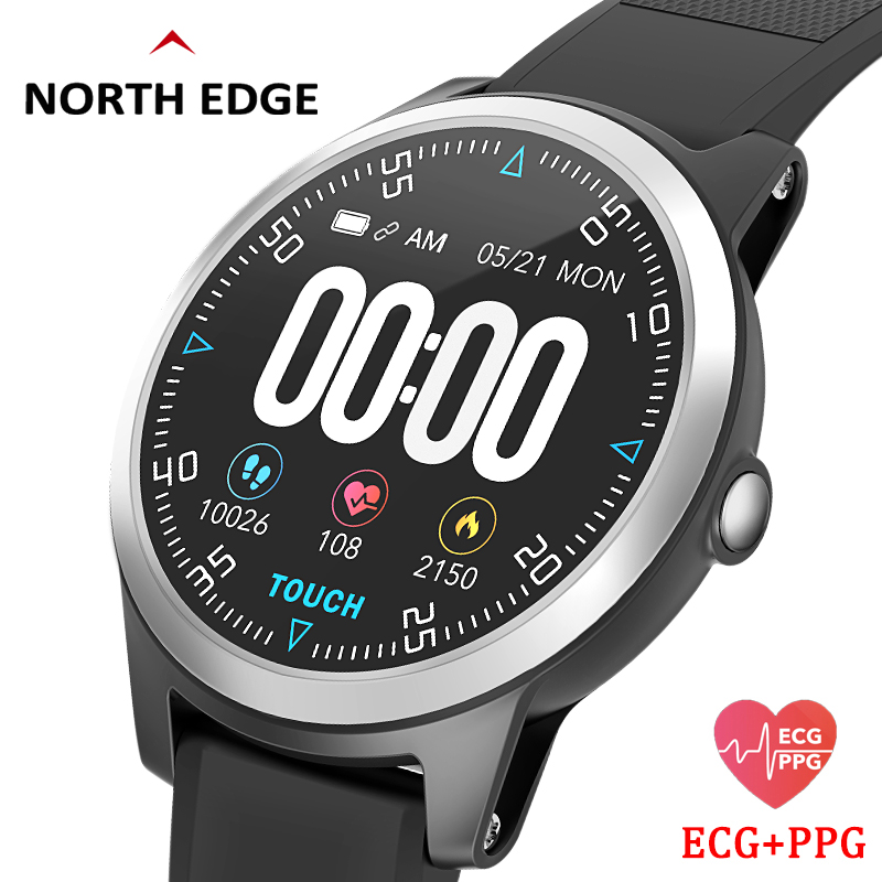 North Edge Smart Watch With Heart Rate Monitor ECG PPG Blood Pressure IP67 Waterproof Fitness Tracker Wristband Smart WatchNorth Edge Smart Watch With Heart Rate Monitor ECG PPG Blood Pressure IP67 Waterproof Fitness Tracker Wristband Smart Watch