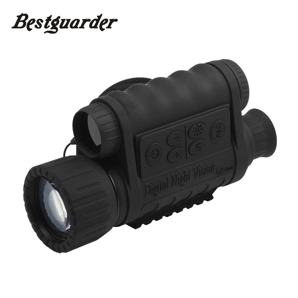 Numérique Chasse de Vision Nocturne Monoculaire Infrarouge IR Télescope Lunettes GPS LCD 5mp De Nuit Portée de Tir Viseurs De Nuit 6x50mm HD