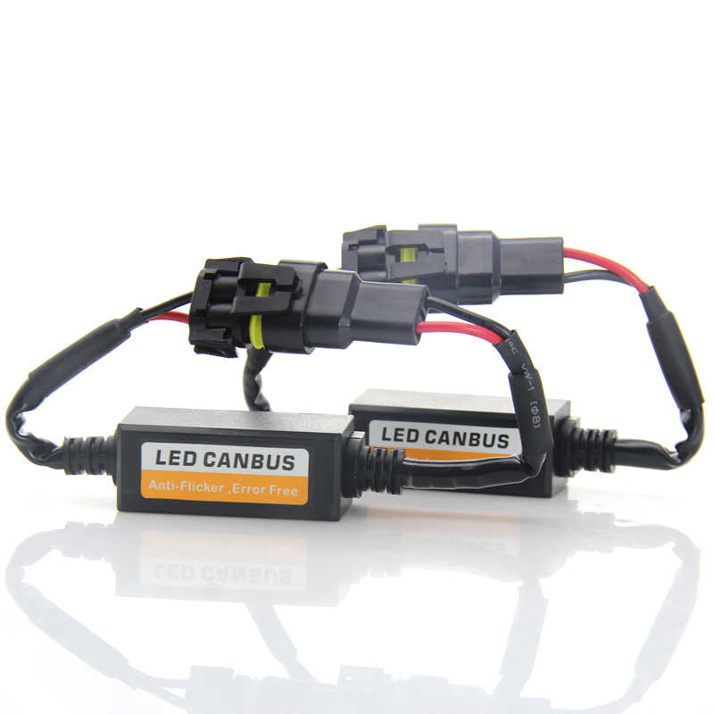 H7 LED Headlight Decoder CAN-BUS EMC Warning Canceller Capacitor Anti-flicker Resistor harness Canbus Error Free Plug & Play