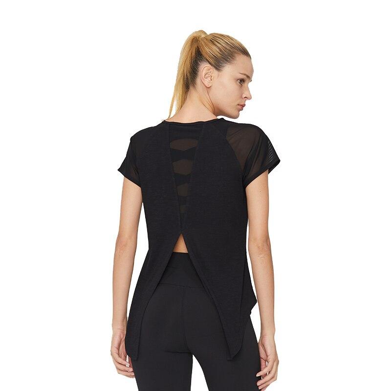 SYPREM Running T Shirt Sexy SLUB JERSEY Running Sports Wear For Women Compression Short Sleeve Mesh Breathable Gym Tank 18FD2040