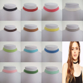 "Adjustable 10mm Flat Gray Pink Black Dark Brown White Light Blue Faux Suede Cord Choker Necklace 13"" 13 Colors For Choices"