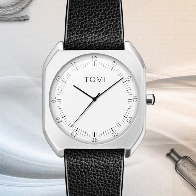 TOMI Brand New Fashion Casual Male Elegant female Quartz Clock Man Watch Simple luxury woman Lady Watches dress Wristwatch Gift