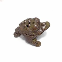 Handmade Red copper Mini Incense Burner Toad Boutique Tea Accessories Creative brass tea pet three-legged Chinese Tea Culture mahogany quality crafts line pomades at home line incense burner wood lying incense box incense stove sandalwood furnace
