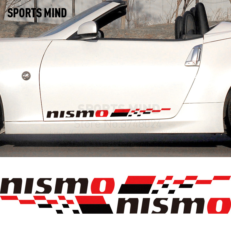 1 Pair NISMO Car Door Sticker decal Car-Styling For nissan almera n16 tiida qashqai j10 patrol x-trail t32 sentra accessories