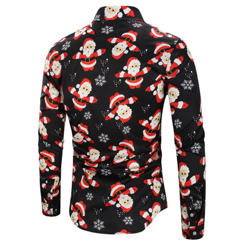 Compre Papá Noel Camisa Con Estampado Completo De Los Hombres De ... ab71a0bc56cfb