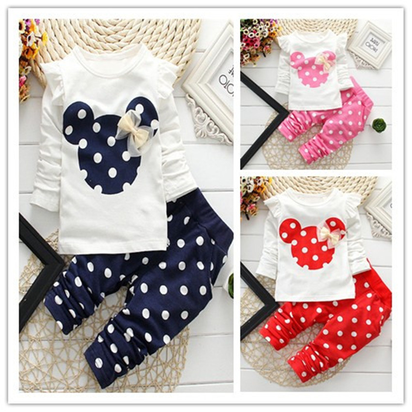dětské Dot Dot dlouhý rukáv Bavlna pro holčičku Dívčí - Dětské oblečení