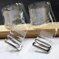 3 pares = 6 Unid hebilla de Metal correas del sujetador mujeres cinturón elástico de silicona transparente correas del sujetador ajustable cinturón íntimos accesorios
