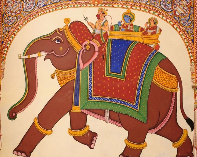 Free Shipping Indian Style Elephant Mural Colorful Ethnic Custom 3D Living Room Bedroom Wallpaper Hotel Restaurant