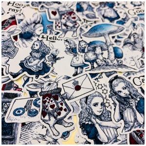 40 Pcs Creative Dagdroom Alice Stickers Junk Journal Dagboek Planner Sticker Scrapbooking Decoratieve Sticker DIY Ambachtelijke Fotoalbum(China)