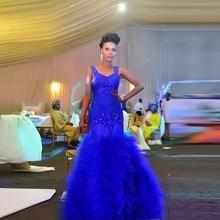 Royal Blue abendkleid 2016 Spaghetti Applizierte Beaded Mermaid Formale Abendgesellschaft Kleider Customzied vestido formatura