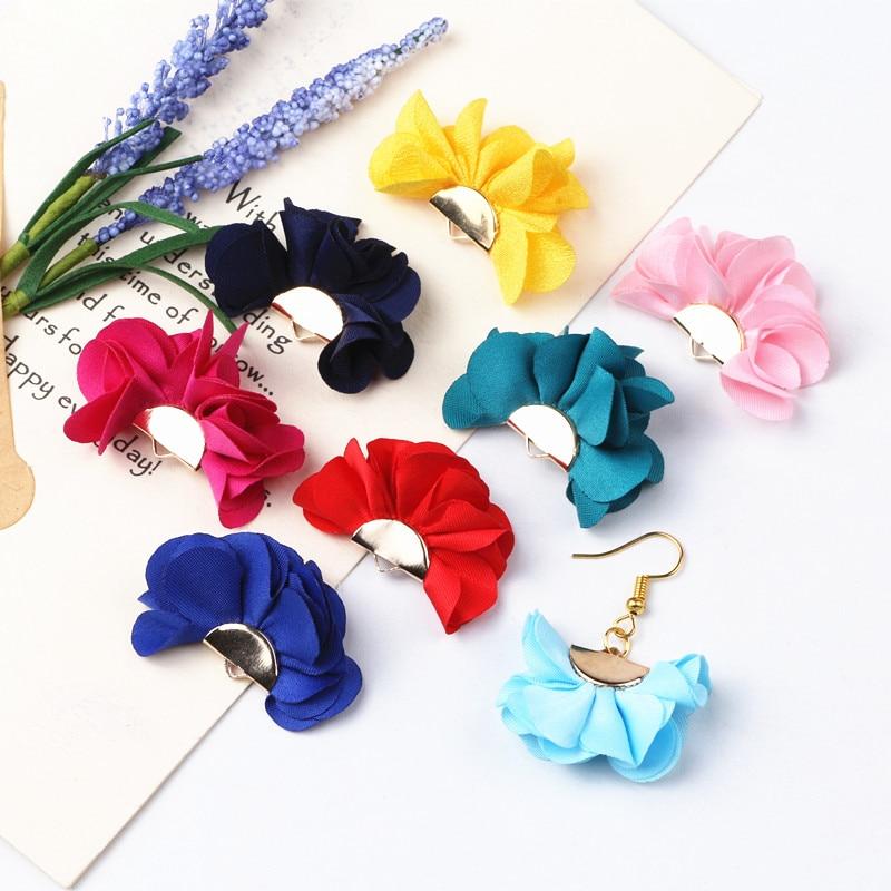 100 шт., разноцветные тканевые подвески с цветами и кисточками, принадлежности для подвесок с кисточками, изготовление браслета ожерелья, акс...