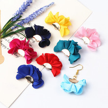 100pcs Mixed Color Cloth Flower Tassel Charms Pendants Supplies Tassels For Necklace Bracelet Making Earring Accessories