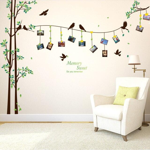 Neue Doppelschicht Kreative Mode Diy Vogel Bilderrahmen Baum