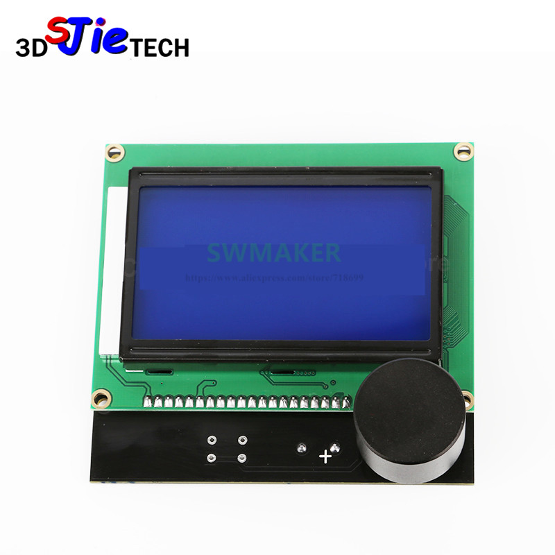 1pcs Creality 3d Printer Parts Controller Ramps 1.4 Lcd 12864 Control Panel Blue Screen For Creality Cr-10 3d Printer Delicious In Taste