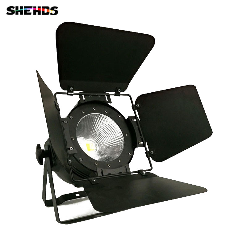 20pcs/lot LED Par COB 100W With Barn Doors High Power Aluminium Case Stage Lighting With 100W Warm White COB For Theater Club t 8 lot 100w rgbw 4 in 1 cw ww cob par 64 led stage studio par light with barn doors