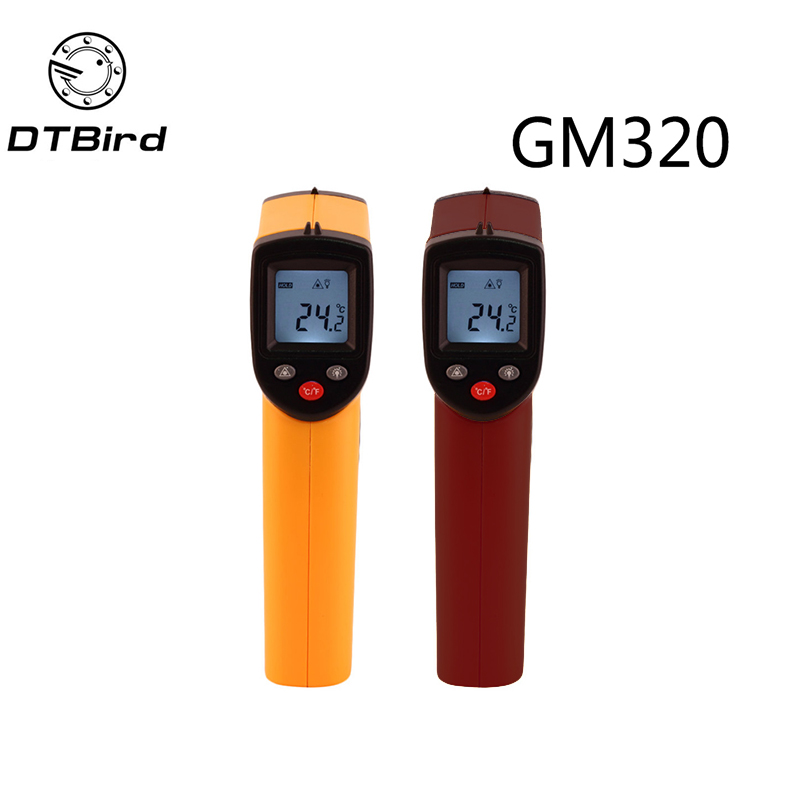 Digital GM320 Infrared Thermometer Non Contact Infrared Thermometer Pyrometer IR Laser Temperature Meter Point Gun -50~380degree 50 600c 50 400c handheld non contact ir infrared thermometer digital lcd laser pyrometer temperature meter with backlight