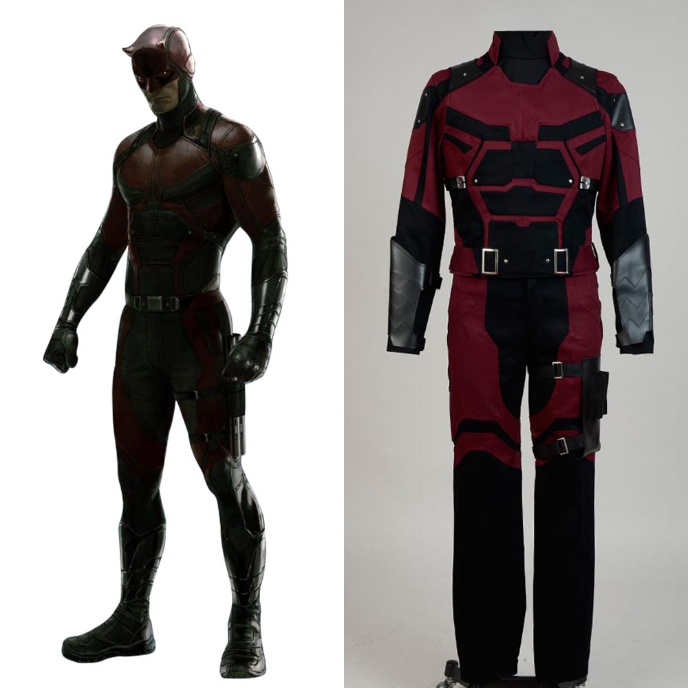 Daredevil Marvel Comics Outfit Movie Jedi Halloween Cosplay Costume For Adult Men Full Set Costume image