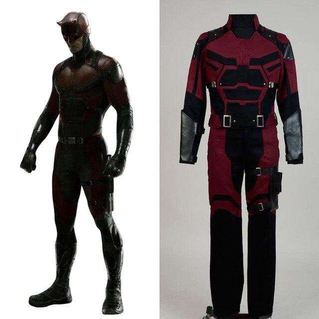 Daredevil Marvel Comics Outfit Movie Jedi Halloween Cosplay Costume For  Adult Men Full Set Costume cebd0ec05532