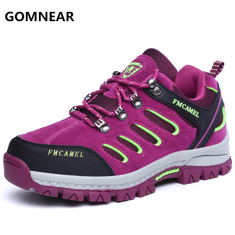 ФОТО Autumn Winter Women New Arrival Breathable outdoor hiking shoes Waterproof wear-resisting antiskid walking tourism trekking shoe