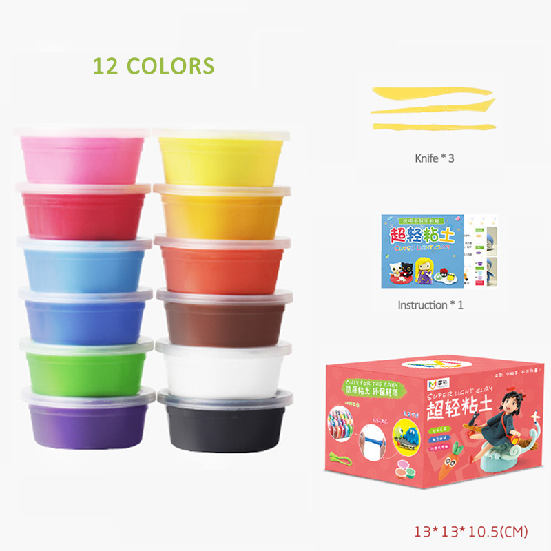 Soft Clear Fluffy Foam Clay Slime Box Magnetic Light Plasticine Antistress Stress Relief Release Cloud Slime Toys For Kids Adult in Modeling Clay from Toys Hobbies