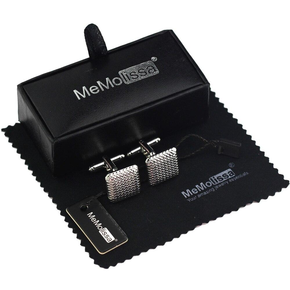 MeMolissa Cufflinks Luxury Frosted Square Classical Design Cufflinks For Wedding Men's Jewelry