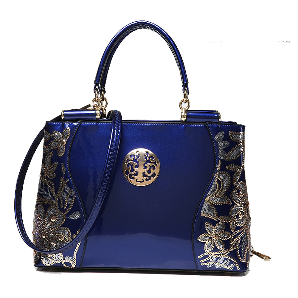 ФОТО 2017 New fashion women bags sequined chains Luxury patent leather famous brands design handbag women messenger bags