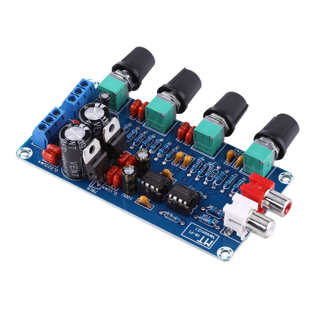 NE5532 HIFI Preamp Preamplifier Board 2 Channel 4 Tune Types OP-AMP Volume Tone EQ Control Board Module Mayitr ne5532 stereo pre amp preamplifier tone board audio 4 channels 12 24v ac amplifier module
