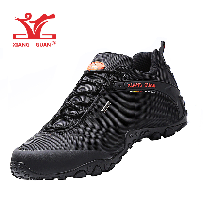 XIANG GUAN Men Outdoor Hiking shoes EUR size 36 48 Women Breathable Anti skid Windproof black