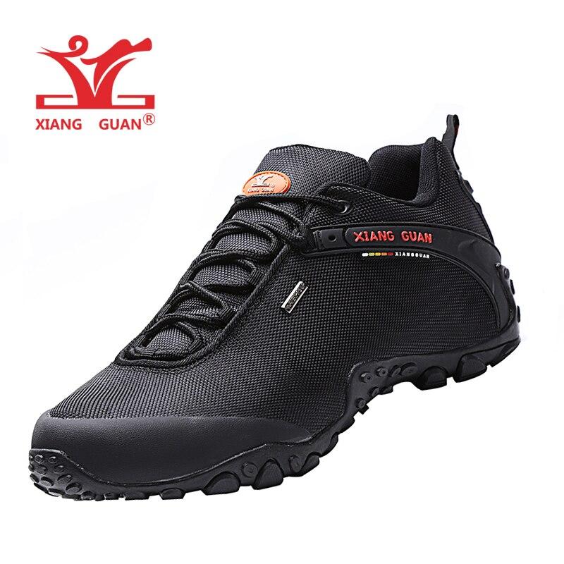 翔関男性屋外登山靴のユーロサイズ 36 48 女性通気性アンチスキッド防風黒旅行靴トレンドスポーツスニーカー  グループ上の スポーツ & エンターテイメント からの ハイキング靴 の中 1