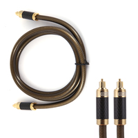Top Quality 1 5 M Digital Optical Audio Cable Alloy Shell Plug Fiber Optic Cable OD8