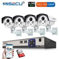 MISECU 8CH 48 В HD POE NVR 1080 P 2.0MP высокое Мощность ИК светодио дный POE IP Камера открытый Водонепроницаемый P2P Onvif наблюдения Камера комплект