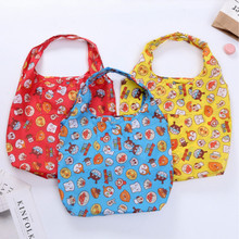 Grocery-Bags Foldable Shoulder Large-Capacity Women Cartoon