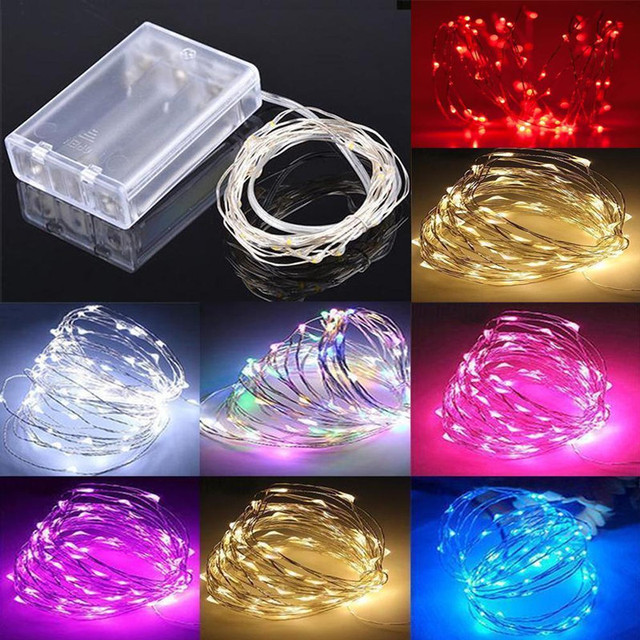 led string fairy lights wedding party spring battery decoration warm white mulit pink