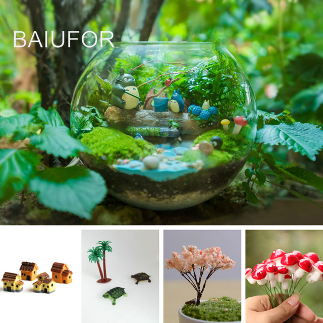 baiufor miniatures collection for mini garden accessories diy fairy garden terrariums accessories figurines for home decor - Garden Accessories