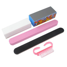 ZD Set For Nail Manicure Kit Nail Files Brush Durable Buffing Grit Sand Nails Art Accessories Sanding File UV Gel Polish Tools недорого