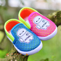 B&D Summer Newborn Baby Girl Shoes Toddler Animal First Walkers Little Kids Air Mesh Soft Sole Sneakers For Boys Blue/Peach
