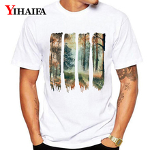 Mens T Shirts Fashion 2019 Summer Forest Tree 3D Print Men Women Graphic Tees Casual White Tee Shirt Unisex Tops men forest print tee