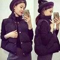 Женская осень зима пальто тонкий рукавов утолщенной Корейский Короткая Куртка Хлопка жилет