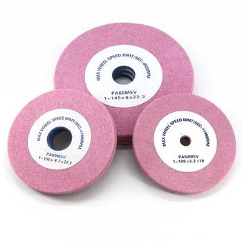 5 pieces quality PA grinding wheel for chain saw teeth sharpening abrasive stone Dia 145 105 thick 3.2 / 4.7 and 6.0 China stock