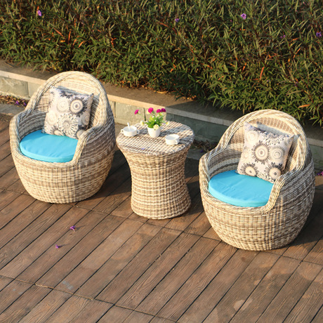 US $1563.99 8% OFF|Garden Set Outdoor Furniture rattan garden furniture  patio furniture muebles de jardin 1 table+2 chairs Balcony 3 pieces set-in  ...
