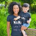 Family T-Shirts Mama Kids Baby Matching Tops Boy Girl Cotton Clothes Women Family T Shirt Blouse