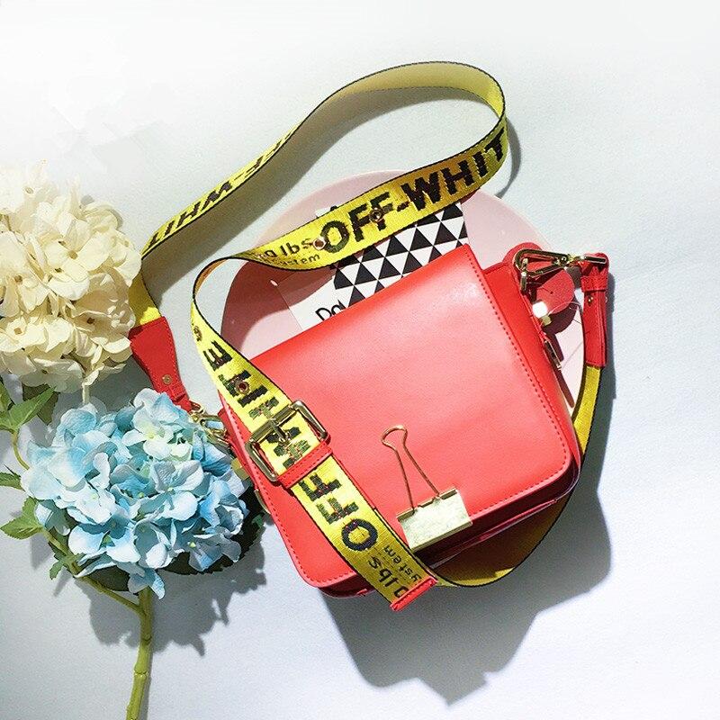 Biseafairy paquete clip de bolso de las mujeres 2017 nueva moda off blanco divid